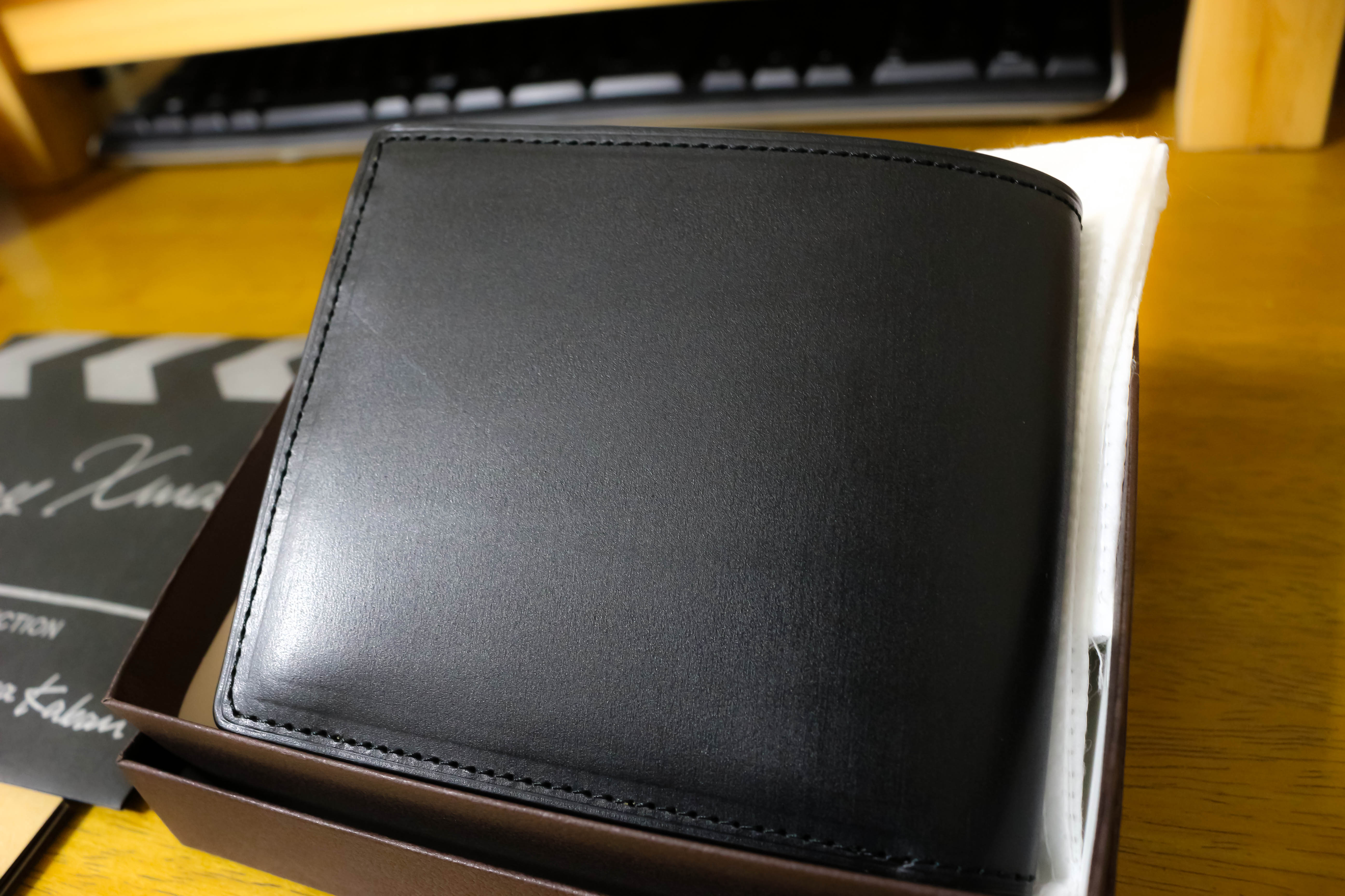 土屋鞄製造所 ブライドルレザー二つ折り財布